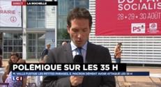 """Polémique sur les 35h : Cambadélis """"a dit tout ce qu'il pensait"""" de Macron"""