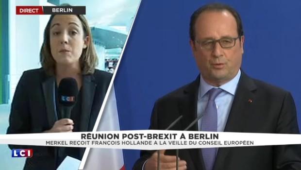 Brexit : François Hollande, Angela Merkel et Matteo Renzi sur la même longueur d'onde