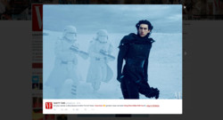 Capture de la page Twitter de Vanity Fair avec la photo du méchant de Star Wars