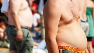 Gros obèse bedaine
