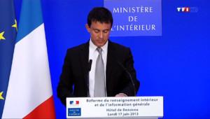 Le 20 heures du 28 mars 2014 : Renseignements g�raux : Valls trace la feuille de route du renseignement de proximit� 808.133
