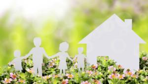 Maison et famille enfants père mère