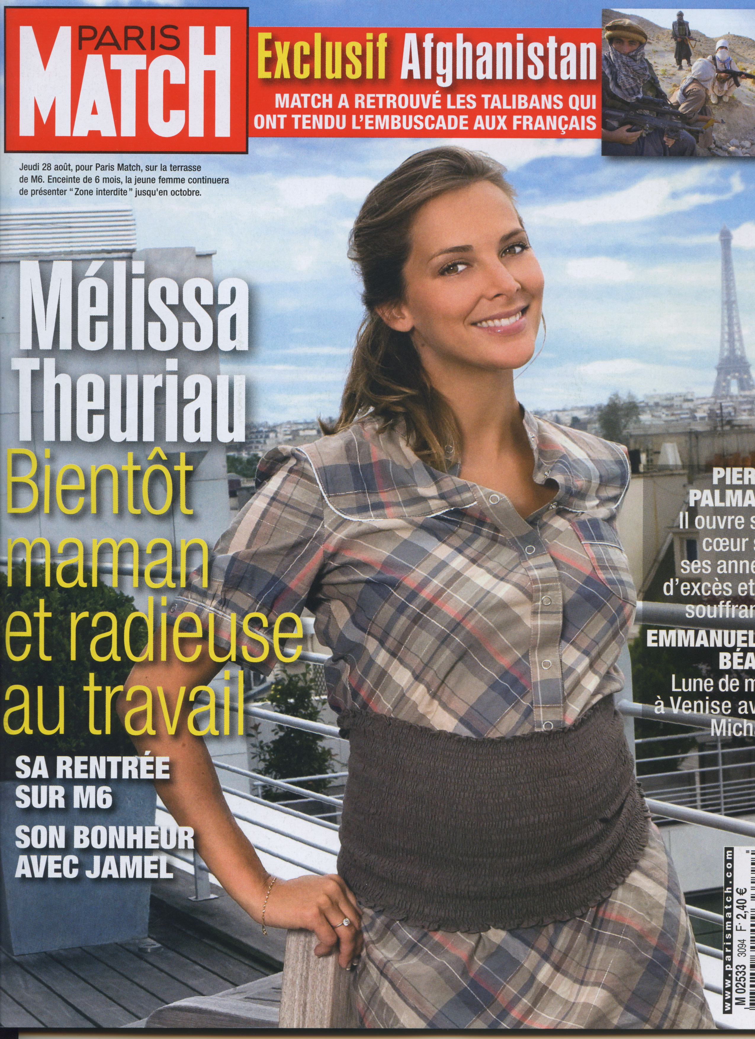 people : Couverture Paris Match Mélissa Theuriau