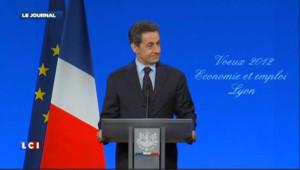 Nicolas Sarkozy à Lyon le 19 janvier 2012