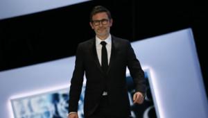 Le réalisateur français Michel Hazanavicius lors des César le 22 février 2013
