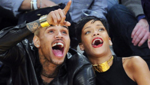 Rihanne et Chris Brown à Los Angeles le 25 décembre 2012