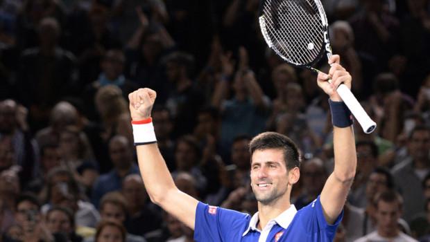 Novak Djokovic au tournoi de Paris-Bercy (8/11/2015)