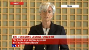 Lagarde candidate à la direction du FMI