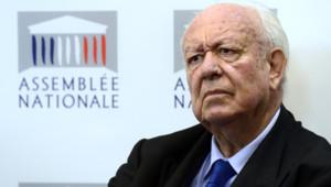 Le maire sortant UMP Jean-Claude Gaudin de Marseille.