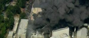 Les studios Universal en feu à Hollywood, le 1er juin 2008