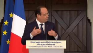 """Hollande : """"Un acte de justice"""" pour les soldats musulmans"""
