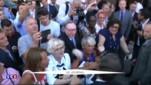 Nicolas Sarkozy inaugure son QG de campagne