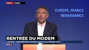 Rentrée du Modem : Bayrou appelle à une Europe unie pour accueillir les migrants