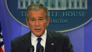 Le président Bush le 17 octobre 2007/TF1