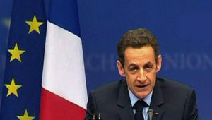 Nicolas Sarkozy lors de sa conférence du sommet de Bruxelles (12 décembre 2008)