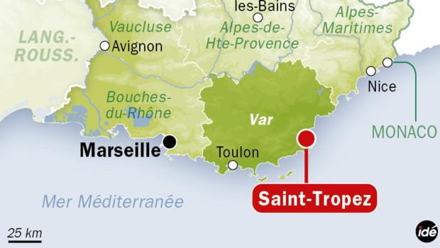 Добраться в Сен-Тропе