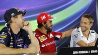 Sebastian Vettel, Fernando Alonso et Jenson Button, trois champions du monde qui ont animé et continue d'occuper toute l'attention du marché des transferts 2014-2015.