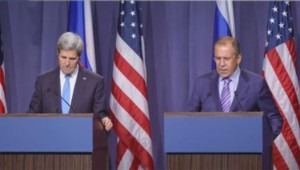 John Kerry et Serguei Lavrov à Genève.