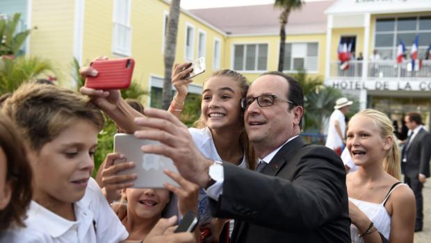 François Hollande à Saint-Barthélemy, le 8/5/15