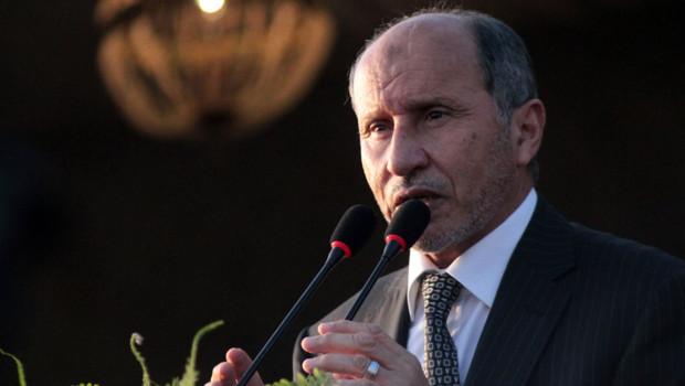 """Mustapha Abdeljalil proclame la """"libération"""" de la Libye à Benghazi, le 23/10/11"""