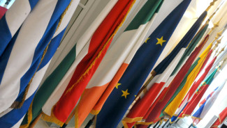 UE : drapeaux de divers pays européens