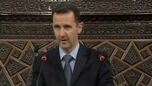 Bachar al-Assad s'adresse au Parlement syrien, le 30 mars 2011