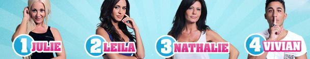 Secret Story 8 : Julie, Leila, Nathalie et Vivian sont nominés cette semaine ! Votez dès à présent pour sauver votre candidat préféré
