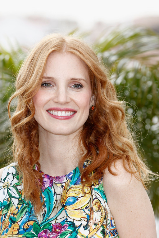 Jessica Chastain lors du photo call Madagascar 3 - Cannes 2012