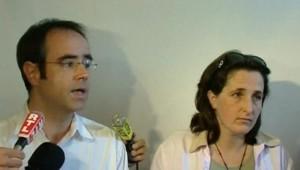 Les époux Courjault le 22 août 2006 à Tours. TF1/LCI