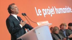 François Bayrou lors du Congrès du MoDem à Arras (6 décembre 2009)