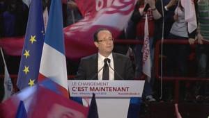 Hollande à Bercy, le 29 avril 2012.
