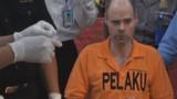 Indonésie : les images du Français arrêté en possession de 3kg de drogue