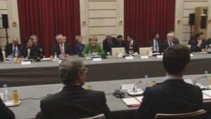 Les dirigeants européens réunis pour discuter du chômage des jeunes en Europe. (12/11/2013)