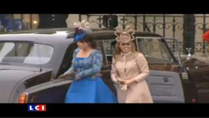 Béatrice et sa soeur Eugénie au mariage royal du prince William et de Kate Middleton, le 29 avril 2011.