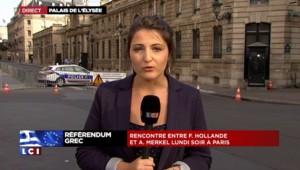 """Dette grecque : Merkel à Paris mardi pour """"démontrer l'étroite coopération des deux pays"""""""