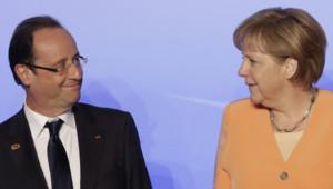 François Hollande et Angela Merkel, au sommet de l'Otan, le 20/5/12