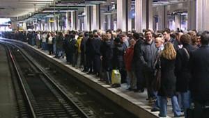 Un quai de RER le 17 octobre 2007/TF1