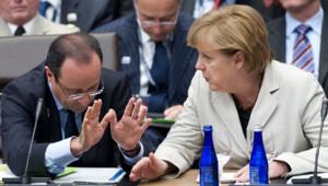 François Hollande et Angela Merkel, au sommet de l'Otan, le 21/5/12