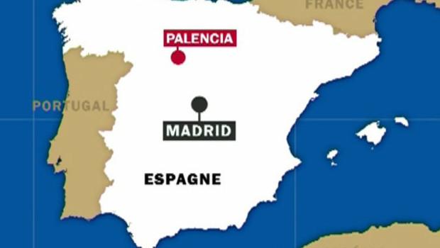 Lieu de l'accident en Espagne