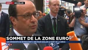 """Sommet européen : """"Nous devons faire vite"""", affirme Hollande"""