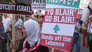 TF1/LCI Manifestation anti-guerre Londres Liban