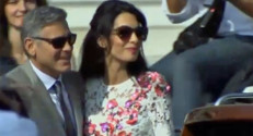 George et Amal Clooney au lendemain de leur mariage à Venise, le 27 septembre 2014