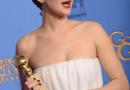 L'actrice américaine Jennifer Lawrence et son Golden Globe de la meilleure actrice (comédie) pour American Bluff