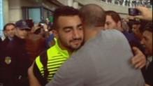 l'équipe de foot palestinienne accueillie en fanfare