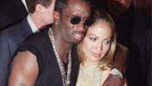 Le rappeur Puff daddy et la chanteuse Jennifer Lopez