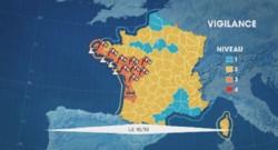 10 départements de l'ouest placés en vigilance orange à partir de samedi matin
