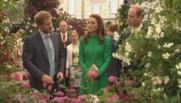 famille royale exposition florale de Chelsea