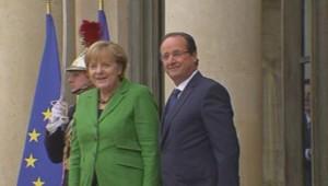 François Hollande et Angela Merkel à l'Elysée. (12/11/2013)
