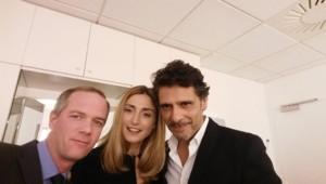 Julien Arnaud, Julie Gayet et Pascal Elbé dans la tour TF1