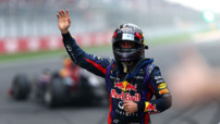 Sebastian Vettel (Red Bull) quadruple champion de F1 lors du GP Inde le 27 octobre 2013
